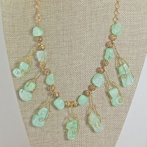 Sachi Beaded Green Agate Necklace close view