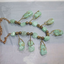 Load image into Gallery viewer, Sachi Beaded Green Agate Necklace flat view