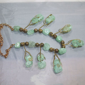 Sachi Beaded Green Agate Necklace flat view