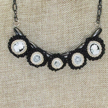 Load image into Gallery viewer, Raegan Beaded Bead Embroidery Pendant Necklace close up view