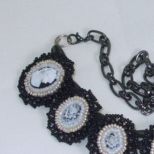Load image into Gallery viewer, Raegan Beaded Bead Embroidery Pendant Necklace clasp view