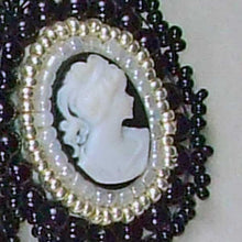 Load image into Gallery viewer, Raegan Beaded Bead Embroidery Pendant Necklace pin up view