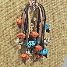 Load image into Gallery viewer, Ebe Beaded Dangle Pendant Necklace front bug eye view