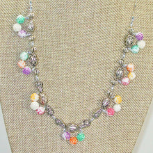 Load image into Gallery viewer, Waneta Beaded Jewelry Necklace close up front view