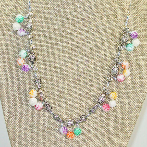 Waneta Beaded Jewelry Necklace close up front view