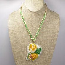 Load image into Gallery viewer, Eathelin Beaded Embroidery Necklace front relevant view