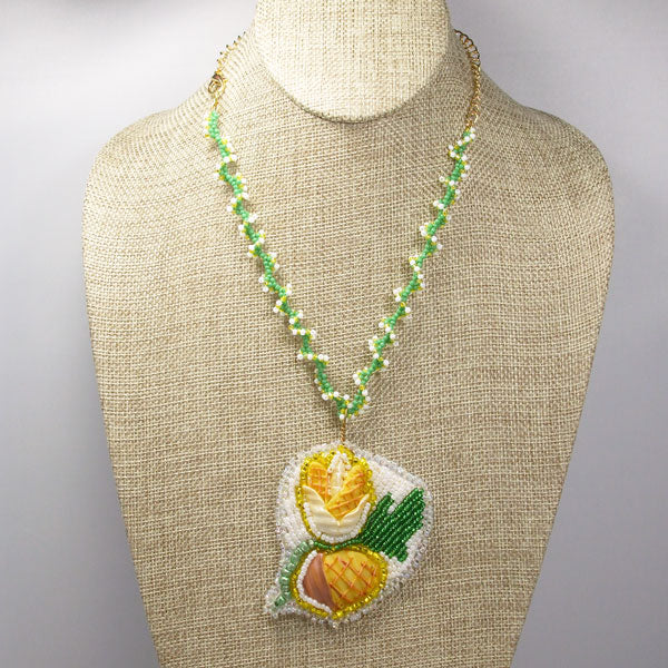 Eathelin Beaded Embroidery Necklace front relevant view