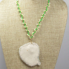 Load image into Gallery viewer, Eathelin Beaded Embroidery Necklace back relevant view