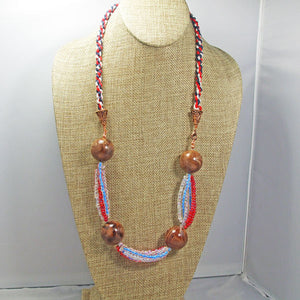 Fabia Beaded Stringing Necklace front relevant view