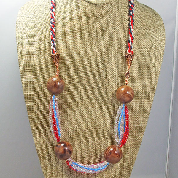 Fabia Beaded Stringing Necklace front close view