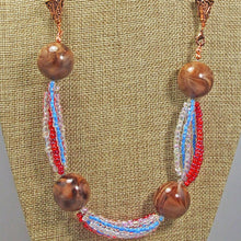 Load image into Gallery viewer, Fabia Beaded Stringing Necklace front blow up view