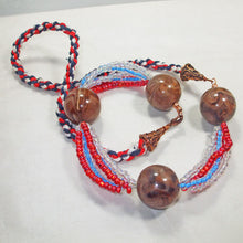 Load image into Gallery viewer, Fabia Beaded Stringing Necklace vlat view