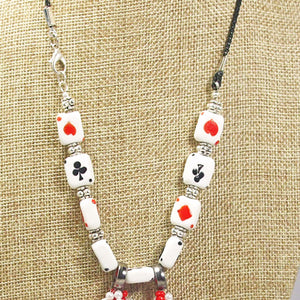 Hadara Beaded Stringing Necklace front blow up view