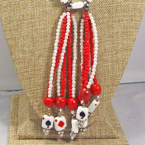 Hadara Beaded Stringing Necklace front pin up view