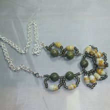 Load image into Gallery viewer, Ulima Candy Wrapper Beaded Necklace flat view