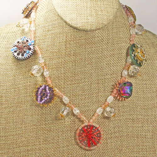 Lanthe Hobo Beaded Necklace close view