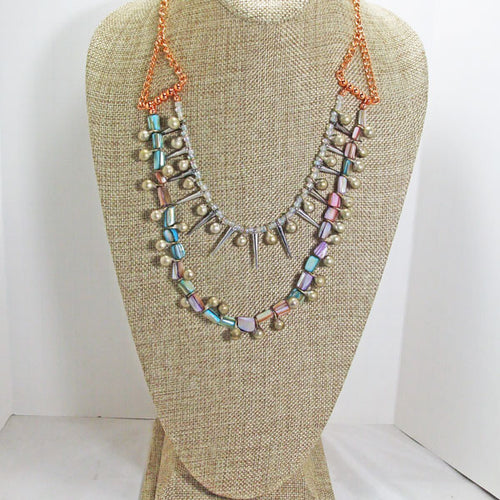 Xiloxoch Beaded Mother-of-Pearl Necklace relevant view