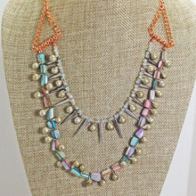 Load image into Gallery viewer, Xiloxoch Beaded Mother-of-Pearl Necklace close view