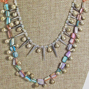 Xiloxoch Beaded Mother-of-Pearl Necklace blow up view