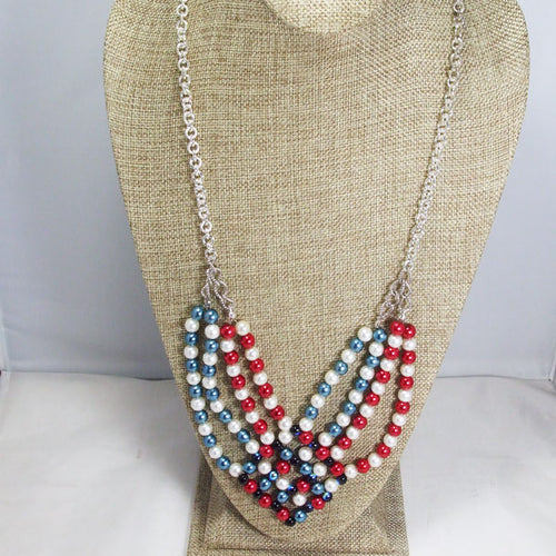 Edelia Beaded Bead Necklace relevant front view