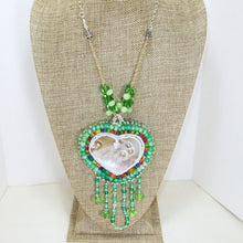 Load image into Gallery viewer, Utulani Beaded Bead Embroidery Pendant Necklace relevant front view