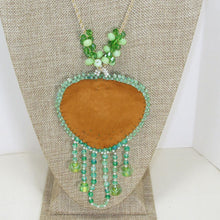 Load image into Gallery viewer, Utulani Beaded Bead Embroidery Pendant Necklace back view