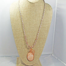 Load image into Gallery viewer, Jacaranda Honey Agate Cabochon Pendant Necklace front relevant view