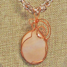 Load image into Gallery viewer, Jacaranda Honey Agate Cabochon Pendant Necklace blow up view