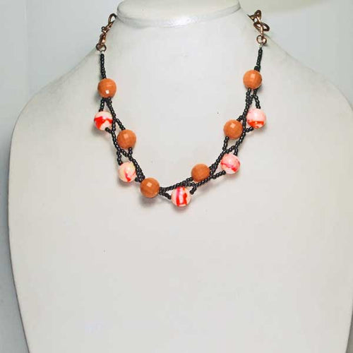 Haidee Halloween Beaded Jewelry Necklace relevant front view
