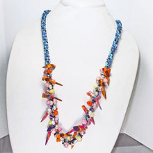 Load image into Gallery viewer, Magena Beaded Kumihimo Necklace relevant view