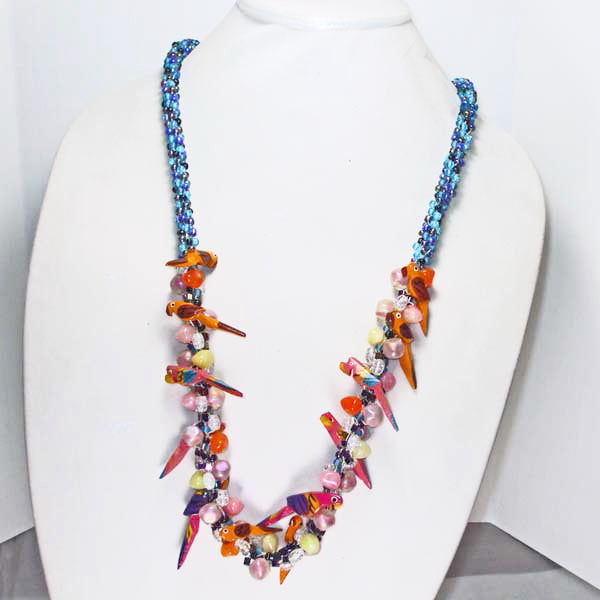 Magena Beaded Kumihimo Necklace relevant view
