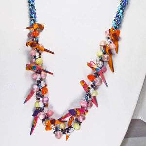 Magena Beaded Kumihimo Necklace blow up view