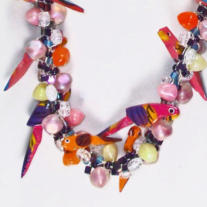 Magena Beaded Kumihimo Necklace pin up view