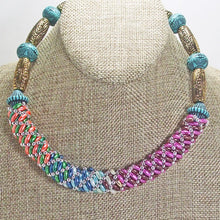 Load image into Gallery viewer, Baldomera Bead Crochet Necklace close view