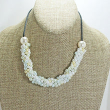 Load image into Gallery viewer, Dalila Bead Crochet Necklace close view