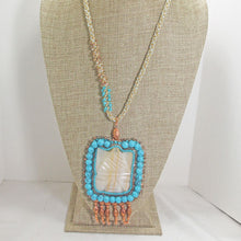 Load image into Gallery viewer, Echidna Bead Embroidery Pendant Necklace front relevant view