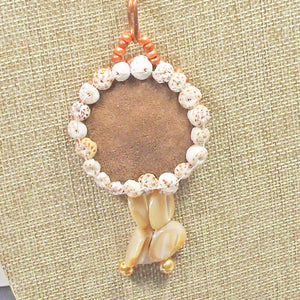 Esterina Coral Beaded Pendant Necklace back view