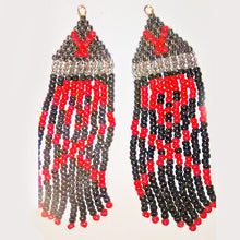 Load image into Gallery viewer, Kyomi Halloween Fringe Earrings relevant view