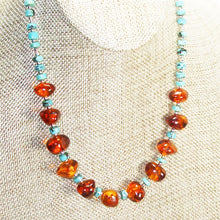 Load image into Gallery viewer, Ujana Amber Beaded Necklace close view