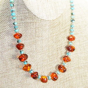 Ujana Amber Beaded Necklace close view