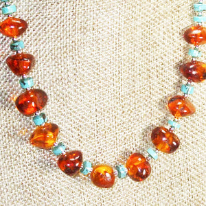 Ujana Amber Beaded Necklace blow up view