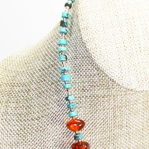 Ujana Amber Beaded Necklace side view
