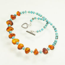 Load image into Gallery viewer, Ujana Amber Beaded Necklace flat view