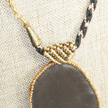 Load image into Gallery viewer, Valerie Bead Embroidery Pendant Necklace back bail view