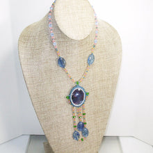 Load image into Gallery viewer, Wahalla Bead Embroidery Pendant Necklace front relevant view