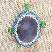 Load image into Gallery viewer, Wahalla Bead Embroidery Pendant Necklace front pin up view