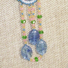 Load image into Gallery viewer, Wahalla Bead Embroidery Pendant Necklace front dangle view