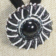 Load image into Gallery viewer, Zawati Cabochon Beaded Pendant Necklace front blow up view