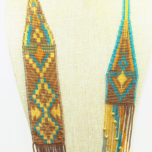 Langley Indian Loom Necklace top blow up view