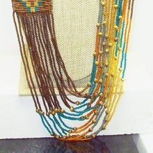 Load image into Gallery viewer, Langley Indian Loom Necklace pin up view